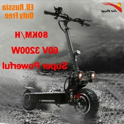 3200W 60V 80KM/H  Electric Scooter 11 inch  Off Road Adults