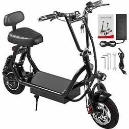 Adult Electric Scooter Black 400W Up to 35km/h Commuter Scoo