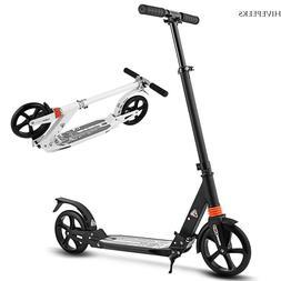 Adult Foldable 3 Levels Adjustable Height 2-Wheel Kick Scoot