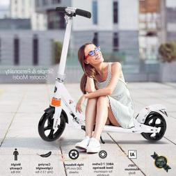 Adult Folding Kick Scooter W/ Dual Suspension,Hight-Adjustab