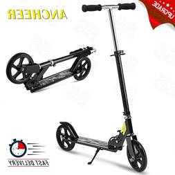 Adult Kick Scooter Foldable 3 Levels Adjustable Height 2 Whe