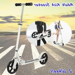 Adult Kick Scooter Folding 3 Levels Height 2-Wheel Wide Deck