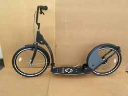 "Adult Kick Scooter Kick Bike 20"" Wheels Black and Gray"