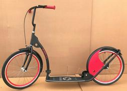 "Adult Kick Scooter Kick Bike 20"" Wheels Black"