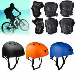 Adult Kids Protective Bike Helmet Protector Gear Set Cycling