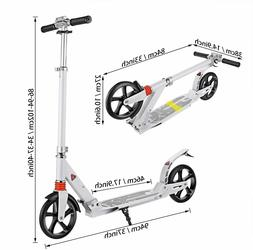 Adult Kids Folding Kick Scooter Sturdy Portable Adjustable 2