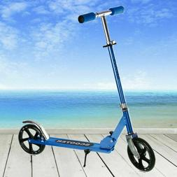 blue folding portable adjustable kick scooter aluminum