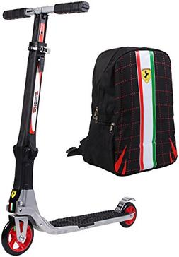 Ferrari Collapsible Two Wheels Scooter, Black