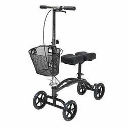Drive Medical Dual Pad Steerable Knee Walker with Basket, Al