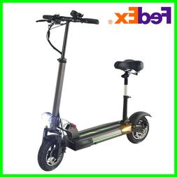 Electric Scooter 500W Motor Adult With Seat Folding 48V Batt
