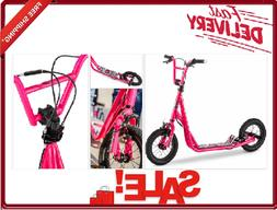 Mongoose Expo Scooter 12-Inch Wheels Air Tires Pink for 6 Ye