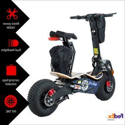 MotoTec Fat Tire Electric Scooter 1600w Motor 48v Adult With