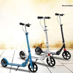 Fold Aluminum 2 Wheel Adult/Kid Kick Scooter Adjustable Heig