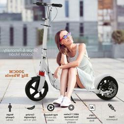 Folding Adjustable Kids/Adult Kick Scooter with Disc Brake &
