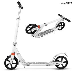 Folding Kick Scooter Aluminum Adjustable Height 35-39'' for