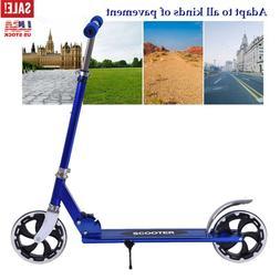 Folding Kick Scooter Big Wheel Adjustable Ride Exercise Stre