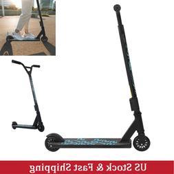 Folding Kick Scooter Big Wheel Ride Exercise Street Sport F/
