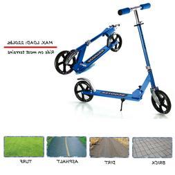 Folding Kick Scooter for Adults Kids Big Wheels Height Adjus