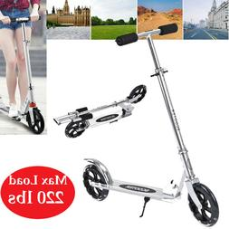 Folding Kick Scooter Sport Portable Adjustable Height Adult