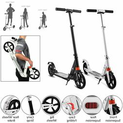 folding portable adult scooter adjustable suspension push