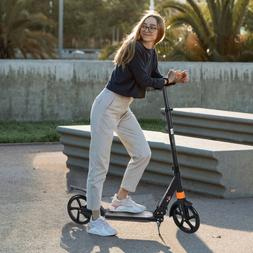 adult folding kick scooter w dual suspension