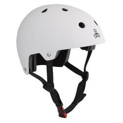 Triple Eight Helmet Skate L / XL Wht-Rbr