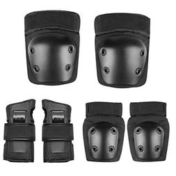 Besmall Adult/Kid's Knee Pads Elbow Pads Wrist Guards Protec