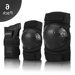 IPSXP Knee Pads Set, Protective Gear for Kid Children Teenag
