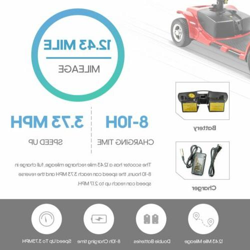 4 Wheels Electric Scooter for Adults Mobility Scooter Heavy