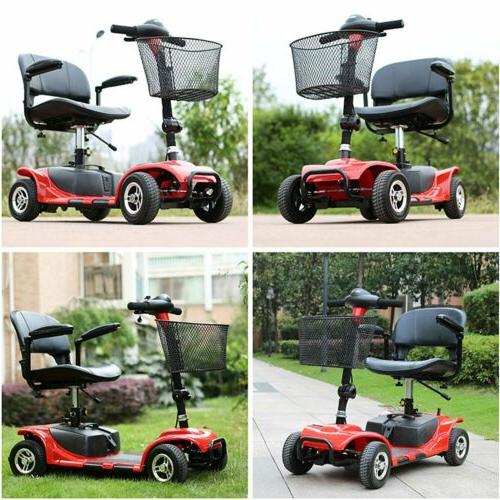 4 wheels electric scooter for adults power