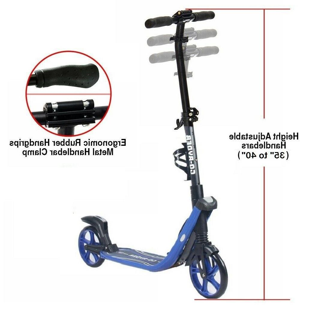 8 inch Kick/Push Scooter for Adults Teens Easy Folding Suspension