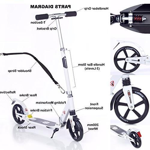 MIAWHEELS & Foldable Long Brake, Kick