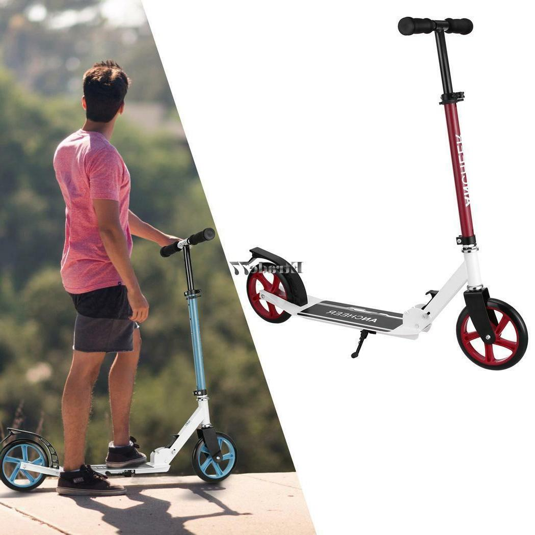 Adult Foldable Levels Adjustable Height 2-Wheel Kick Scooter