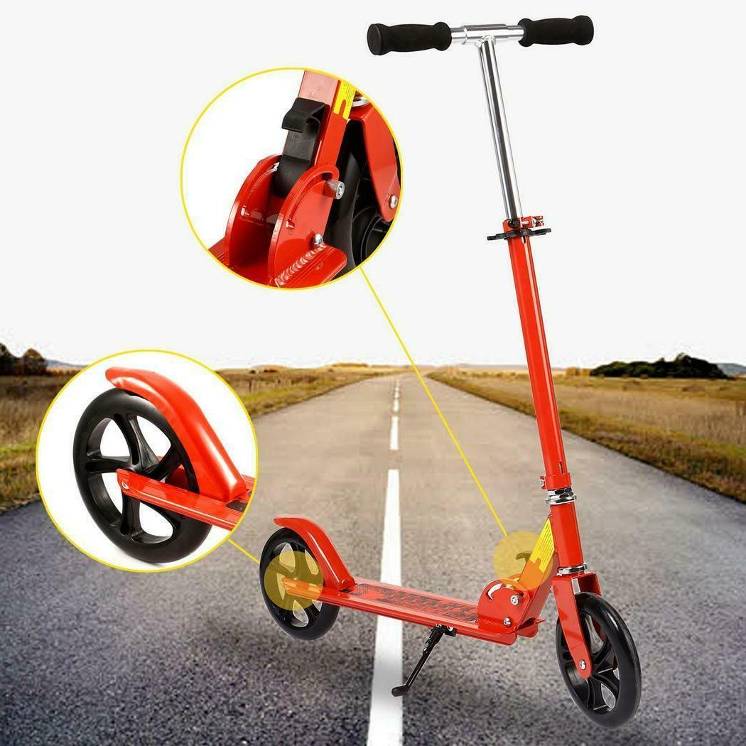 Adults Kick Scooter Foldable 3-Level Adjustable Height 2 Whe