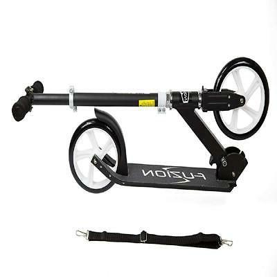Adult Folding Scooter Height-Adjustable Wheels Outdoor