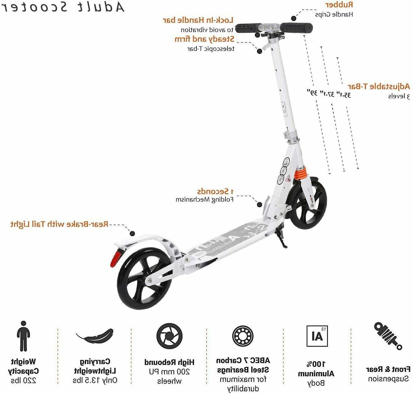 Adult Folding W/ Dual Suspension,Hight-Adjustable Urban Big