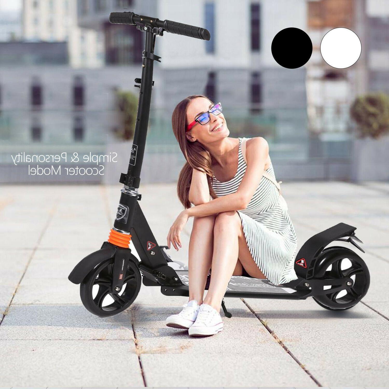 adult kick scooter foldable 3 levels adjustable