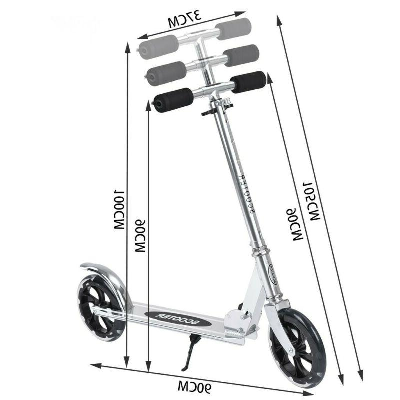 Adult Scooter Sturdy Portable 200mm Wheels