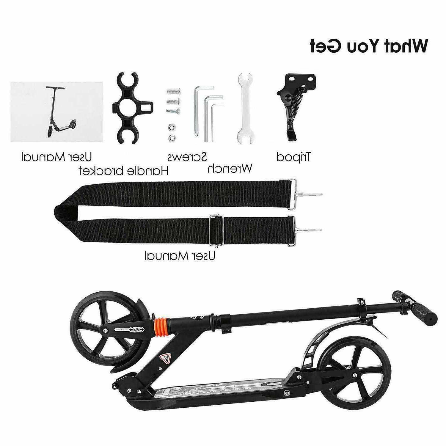 ANCHEER Adult Scooter Adjustable Wheels