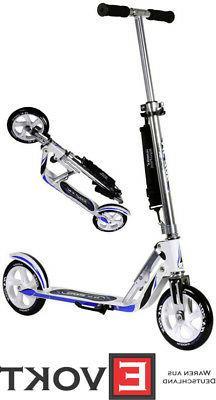 Hudora Big Wheel RX WB 205 Racing white / blue Cityscooter S