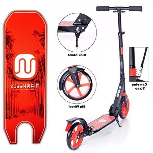 MIAWHEELS Foldable Suspension+ Long Brake, Kick Scooter