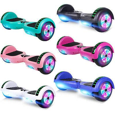 bluetooth hoverboard self balancing scooter led lights