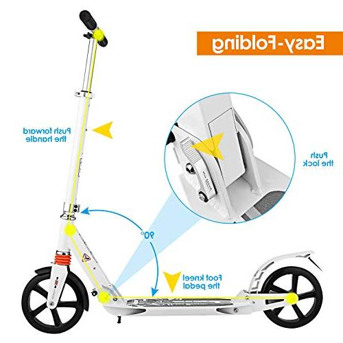 Hikole Scooter with   Foldable Portable   New Scooter Riders and Kids