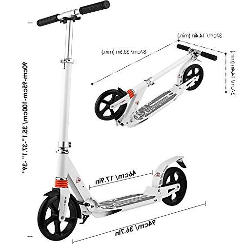 Hikole Scooter   Foldable Portable   Scooter for Urban and Kids Age 8Up