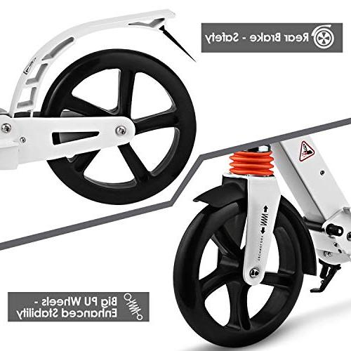 Hikole Kick Scooter with   Foldable Adjustable   Scooter for and Age
