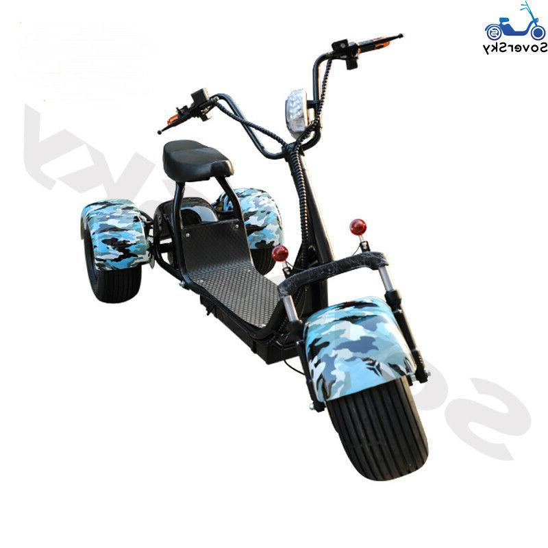 Black Electric Tricycle 2000