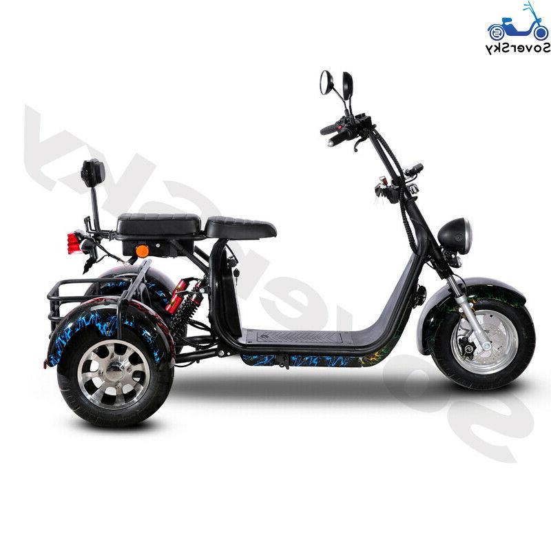 Black Golf 3 wheel scooter Tricycle