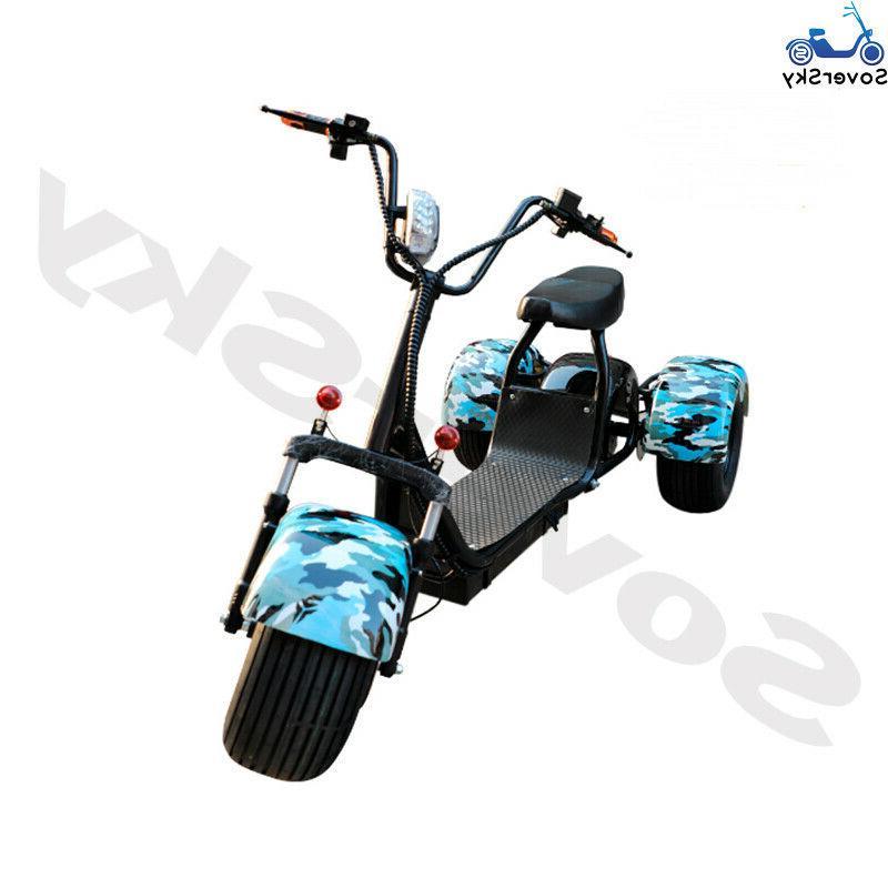 Black Electric Golf Trike 3 wheel Tricycle