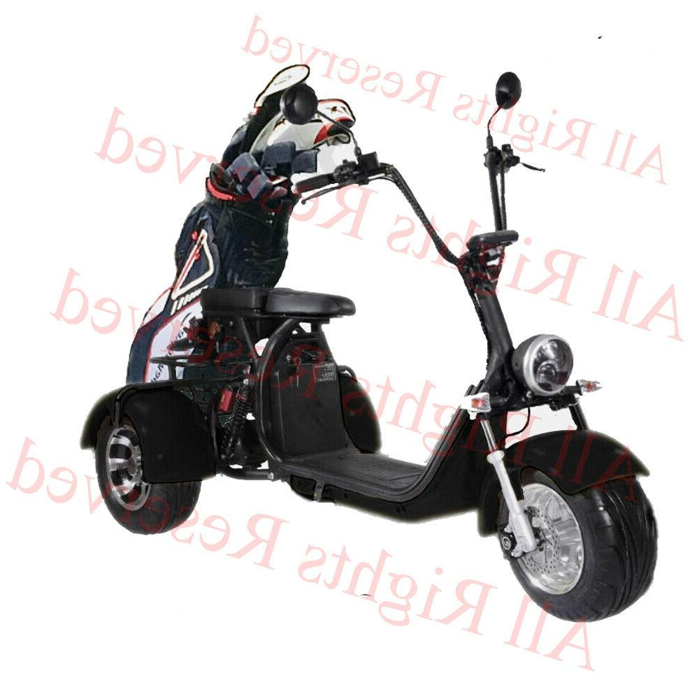 Black 3 wheel scooter Electric Tricycle