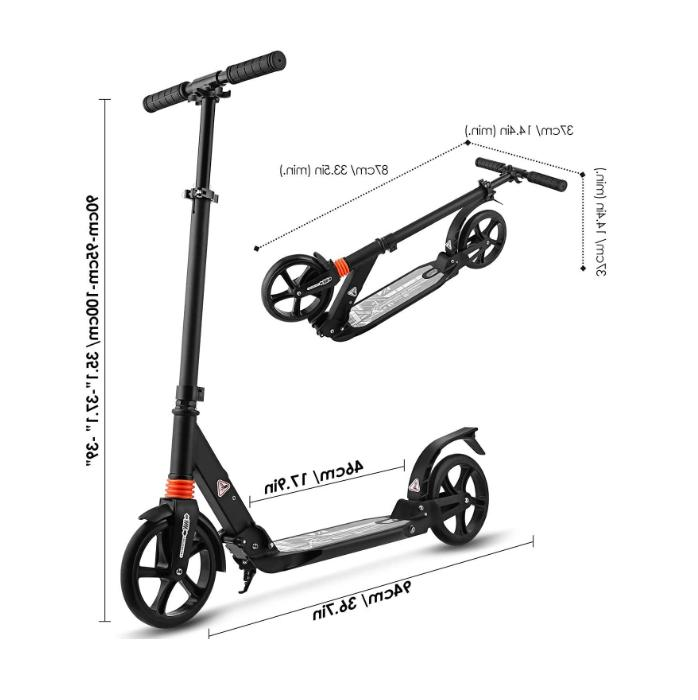 foldable adults capacity 220lb Height Adjustable & Rear